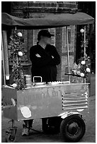 Lemonade vendor. Naples, Campania, Italy ( black and white)
