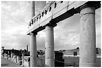 The Forum. Pompeii, Campania, Italy ( black and white)