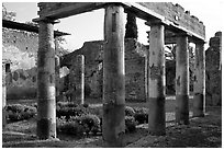 Villa. Pompeii, Campania, Italy ( black and white)