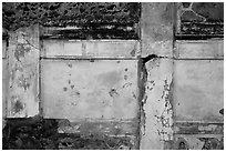 Wall detail. Pompeii, Campania, Italy ( black and white)