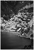 Positano. Amalfi Coast, Campania, Italy ( black and white)