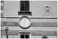 Sundial, Amalfi. Amalfi Coast, Campania, Italy (black and white)