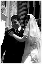 Newly weds, Amalfi. Amalfi Coast, Campania, Italy (black and white)