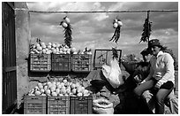 Lemon vendors. Amalfi Coast, Campania, Italy ( black and white)