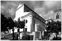 Piazza Duomo, Ravello. Amalfi Coast, Campania, Italy (black and white)