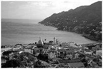 Vietri sul Mare. Amalfi Coast, Campania, Italy (black and white)