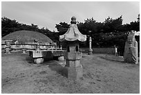 Seolleung of King Seonjong, Samreung Gongwon. Seoul, South Korea ( black and white)