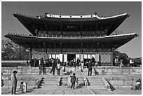 Injeong-jeon, Changdeok Palace. Seoul, South Korea (black and white)