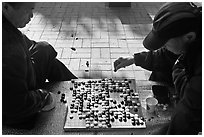Go game. Seoul, South Korea (black and white)