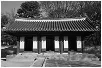 Jaegung, Jongmyo shrine. Seoul, South Korea ( black and white)