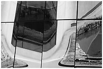 Window reflections, Dongdaemun Design Plaza. Seoul, South Korea (black and white)