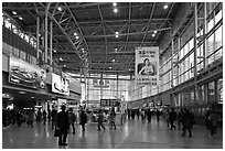 Inside Seoul train station. Seoul, South Korea ( black and white)