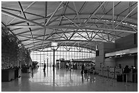 Inside Incheon international airport. South Korea (black and white)
