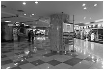 Subway shopping plaza. Daegu, South Korea ( black and white)