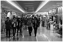 Underground shopping center. Daegu, South Korea (black and white)