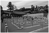 Labyrinth, Haeinsa Temple. South Korea ( black and white)