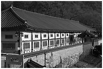 Janggyeong Panjeon, depository for the Tripitaka, Haeinsa Temple. South Korea ( black and white)