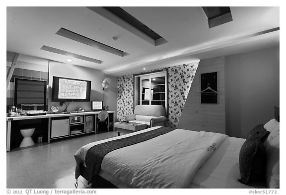 Love hotel room. Daegu, South Korea (black and white)