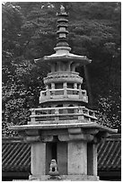 Dabotap pagoda, Bulguk-sa. Gyeongju, South Korea ( black and white)
