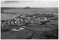 Seongsang-ri. Jeju Island, South Korea ( black and white)