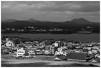 Seongsang-ri village. Jeju Island, South Korea ( black and white)