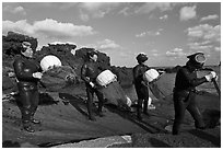Haeneyo women divers, Seongsang Ilchulbong. Jeju Island, South Korea (black and white)