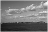 U-do Island. Jeju Island, South Korea ( black and white)