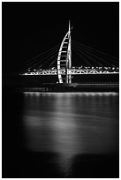 Suspension bridge at night, Seogwipo-si. Jeju Island, South Korea ( black and white)