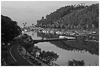 Harbor, Seogwipo-si. Jeju Island, South Korea (black and white)