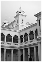 Supreme court. George Town, Penang, Malaysia (black and white)