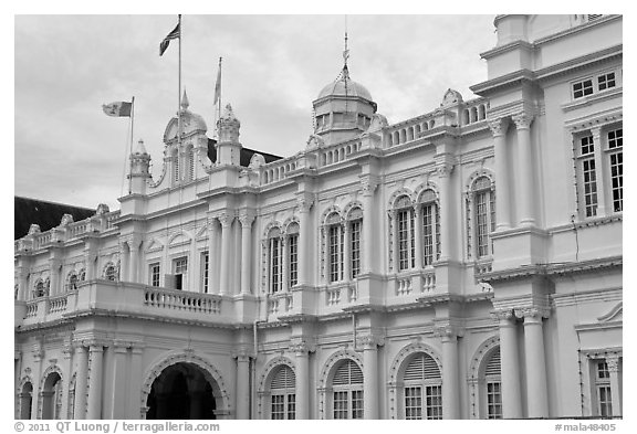 City Hall. George Town, Penang, Malaysia (black and white)