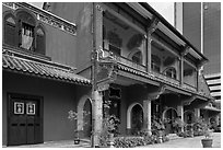 Cheong Fatt Tze Blue Mansion. George Town, Penang, Malaysia (black and white)