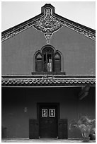 Aisle building, Cheong Fatt Tze Mansion. George Town, Penang, Malaysia (black and white)