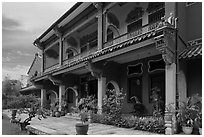 Chinese Courtyard House (Cheong Fatt Tze Mansion). George Town, Penang, Malaysia ( black and white)