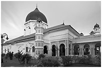 Masjid Kapitan Keling mosque. George Town, Penang, Malaysia ( black and white)