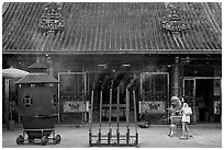 Kuan Yin Teng temple. George Town, Penang, Malaysia ( black and white)