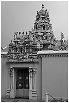 South Indian Sri Mariamman Temple. George Town, Penang, Malaysia ( black and white)