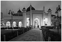 Masjid Kapitan Keling at twilight. George Town, Penang, Malaysia (black and white)