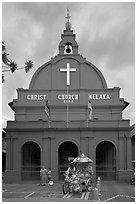 Christ Church. Malacca City, Malaysia (black and white)