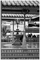 Ablution fountain, Masjid Kampung Hulu. Malacca City, Malaysia ( black and white)