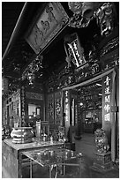 Cheng Hoon Teng traditional Chinese temple. Malacca City, Malaysia (black and white)
