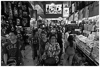 Bugis Street Market. Singapore ( black and white)