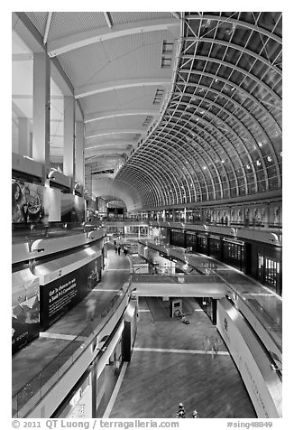 The Shoppes mall, Marina Bay Sands. Singapore (black and white)