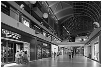 Stores in the Shoppes, Marina Bay Sands. Singapore (black and white)