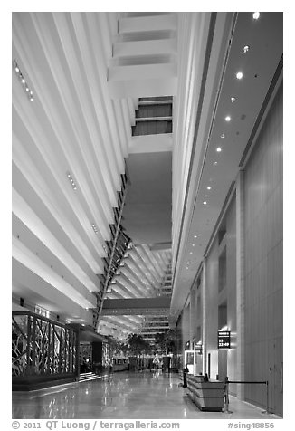 Black And White Picture Photo Casinos Main Lobby