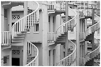 Spiral staircases. Singapore ( black and white)