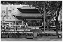 Department store, Orchard Road. Singapore ( black and white)