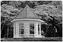 The Bandstand, Singapore Botanical Gardens. Singapore ( black and white)