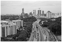 West Coast Highway. Singapore (black and white)