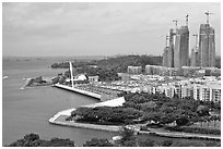 Marina, Keppel Bay. Singapore (black and white)